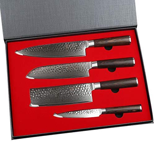 YARENH Cuchillo de Cocina Profesional,Set Cuchillos Cocina de Acero Da