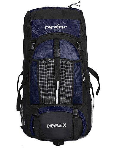 ZQ 60 L Laptop-Rucksäcke / Wandern Tagesrucksäcke / Travel Organizer / Rucksack Camping & Wandern / Klettern / Radsport DraußenWasserdichter Dark Blue