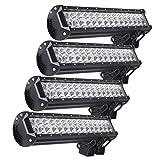Kohree 4X 90W LED Phare de travail Noir feux WorkLight Phares de voiture tout-terrain supplémentaires l'éclairage des travaux tout-terrain