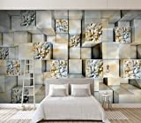 Yosot 3-D-Wandbild Marmorrelief Tapete Wohnzimmer Balkon Tv Hintergrund Wand Dekoration 3D Wandbild Tapeten-140Cmx100Cm