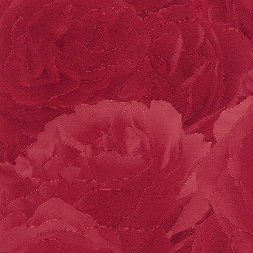 red-818437-rose-carnation-flower-petal-feature-rasch-vinyl-wallpaper