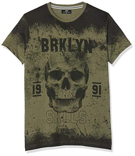 Inside 7ECN101, Camiseta para Hombre, (Verde 39), Medium (Tamaño...