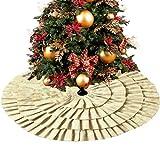 Weihnachten Baumdecke Weihnachtsbaum Deko Baumrock Christbaumständer Sackleinen Bodenmatte Wohnaccessoires für Neujahr Urlaub Hausparty Xmas Deko, 60 90 106 127 152 cm