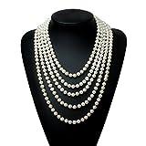 "BABEYOND Modische Imitation Perlen Kette Flapper Art Deco 1920s Gatsby Kostüm Accessoires Lange Perle Halskette 300 cm / 118"""