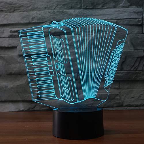 WZYMNYD Akkordeon 7 Wechselnde Illuminationslampe der Farben 3d