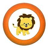 """Schubladengriff""""Löwe"""" orange Holz Buche Kinder Kinderzimmer 1 Stück wilde Tiere Zootiere Dschungeltiere Traum Kind"""