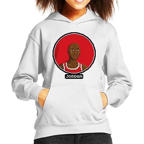 Michael Jordan Portrait Pixel Kid's Hooded Sweatshirt (Jam Kids 11 Space)