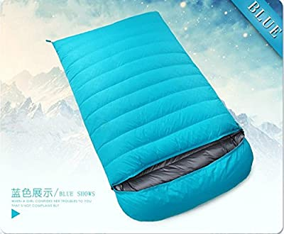 ZHUDJ Down Sleeping Bag, Outdoor Fishing Room, Adult Light Double Thickening Sleeping Bag,Lake Blue,1200 Grams from ZHUDJ