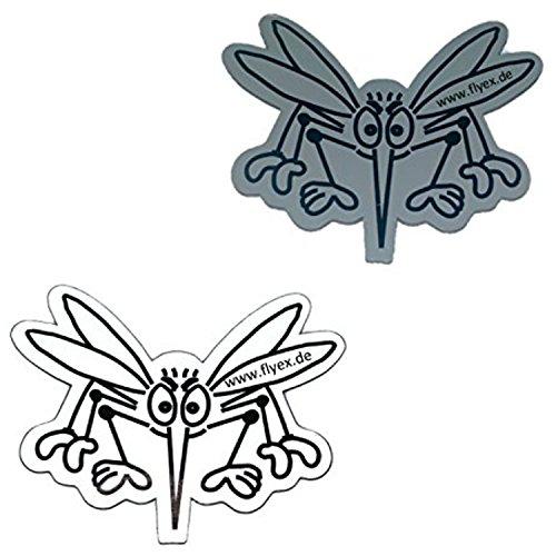 Tür Magnet Durchlaufschutz für Fliegengitter Insektenschutzgitter Fliegennetz Fliegenschutztür auch als Ersatz für Aufkleber + Folie für Türen und Schiebetüren gegen Vogel Flug (weiss - grau)