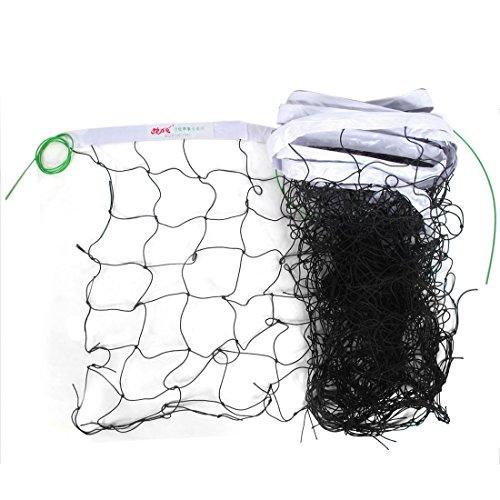 sourcingmap® Volleyballnetz, Nylon, geknotet, eingefasst, 9m lang, Schwarz / Weiß