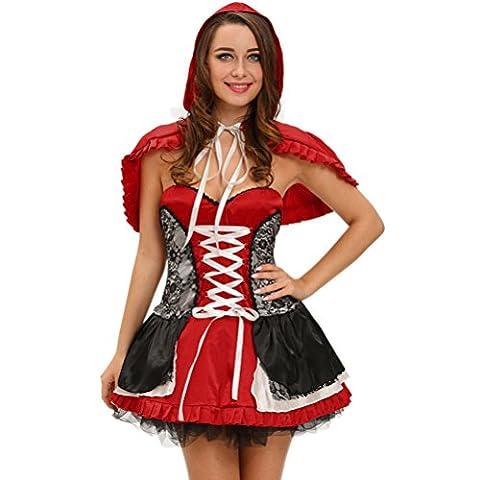 Bling-Bling Sweet Little Red Riding Hood Costume Dress(Size,L)