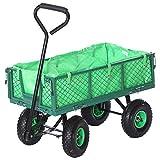 Jalano Handwagen Bollerwagen Plane Gartenwagen grün Handkarre 350 kg