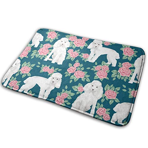 best pillow Toy Poodle Rose Florals Pattern Dog Breed 3_23533 Doormat Entrance Mat Floor Mat Rug Indoor/Outdoor/Front Door/Bathroom Mats Rubber Non Slip 23.6