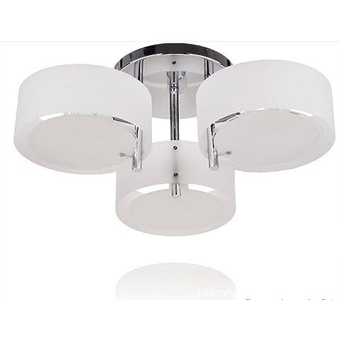 Lonfenner Moderne Aleck Runde Deckenleuchten Deckenleuchte Lampe  Schlafzimmer Wohnzimmer Lampe Stil Decke Lampe Drei Wohnzimmer (60cm*24) ,  3 Head: ...