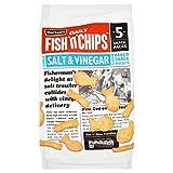 Burtons Fish & Chips Salz & Essig 25G X 5 Pro Packung