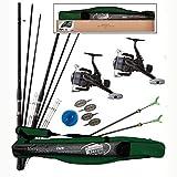 Lineaeffe Top Set Feeder Combo 2canne da pesca + rulli + borsa + accessori