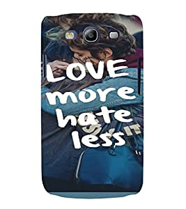 PrintVisa Life Quotes Design 3D Hard Polycarbonate Designer Back Case Cover for Samsung Galaxy S3 Neo