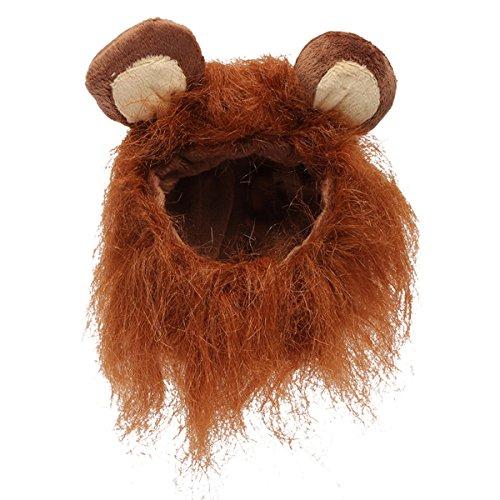 Künstlicher Löwen-Mane Wig Halloween-Kostüm - Dark Brown ()