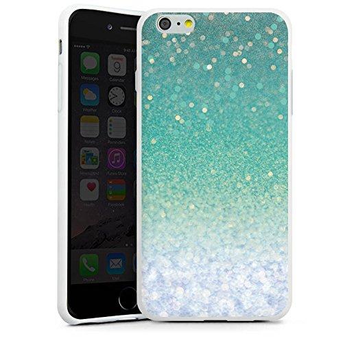 Apple iPhone X Silikon Hülle Case Schutzhülle Glitzer Grün Glitter Silikon Case weiß