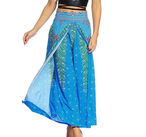 Parachute Pluderhosen - Thai Cargo Boho Hippie Hosen Baggy Yoga Ballon Lose Bloomer Hosen Kleidung für Frauen Männer