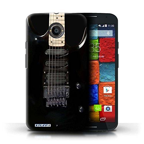 Kobalt® Imprimé Etui / Coque pour Motorola Moto X (2014) / Sunburst Electrique conception / Série Guitare Noir Electrique