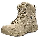 MHSXN Botas De Táctica De Alpinismo Para Hombre Botas Botas Militares De Ejército Armada Al Aire Libre Jungle Mountaineering Sports Shoes,Sandcolor-42