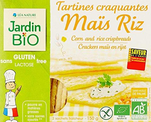 Jardin Bio Tartines Craquantes Maïs Riz sans Gluten 150 g - Lot de 4