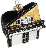 Old World Christmas Viejo Mundo Navidad ornamento de cristal soplado Baby Grand Piano