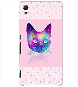 PrintDhaba Cat D-3464 Back Case Cover for SONY XPERIA Z4 (Multi-Coloured)