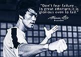 Bruce Lee–# 67–No Fear famosa cita–Exclusivo–Días de póster de Bruce Lee (Citas famosos–A3–Póster de motivación Cita Sign Póster De Imagen, Culturismo, Boxeo, Artes Marciales