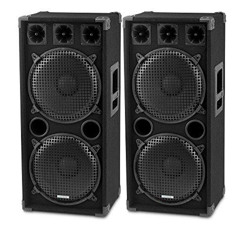 Paar McGrey DJ-2222 2-Etagen DJ PA Lautsprecher Box 2x 30cm (12