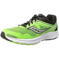 Saucony Cohesion 10, Zapatillas de Running para Hombre, Verde (Slime/Black), 44 EU