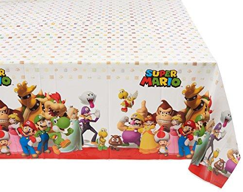 amscan 5715541,2x 1,8m Super Mario Kunststoff Tisch Cover