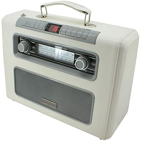 Soundmaster Rcd1500be Koffer Radio Mit Mp3 Cd Player Kunstleder Beige Heimkino Tv Video