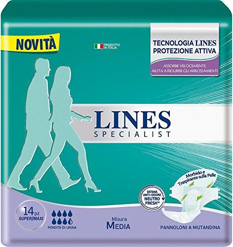 Lines Specialist Pannolone a Mutandina Media, 14...