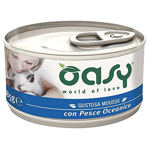 OASY Mousse Con Pesce Dell´Oceano 85Gr - Mangimi Umidi Per Gatti