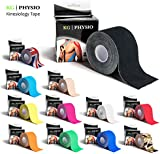 Kinesiology Tape - KG   PHYSIO - Uncut Muscle Support Tape - 5cm x 5m roll - 11 colours available! Images are exact photos of our products for accurate colour representation