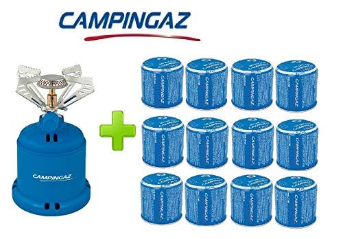 ALTIGASI Réchaud à gaz Camping 206 S Stove Camping Puissance 1,230 W - Poids 280 grammes + 12 pièces Cartouche C206 GLS de 190 grammes