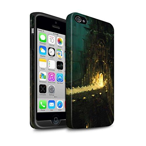 Offiziell Chris Cold Hülle / Matte Harten Stoßfest Case für Apple iPhone 4/4S / Schiffswrack Muster / Gefallene Erde Kollektion Dragonfel Tempel