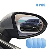 Pellicola antipioggia per specchietto retrovisore laterale auto, universale, ad alta definizione, impermeabile, anti-appannamento, per SUV, 10 cm x 15 cm, confezione da 4 pezzi