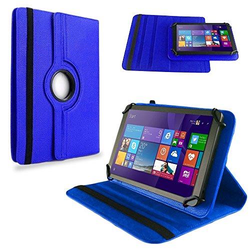 NAUC Tasche Hülle f TrekStor SurfTab Twin 10.1 Tablet Schutzhülle Case Schutz Cover, Farben:Blau