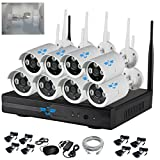Kit professionale ITALIAN ALARM originale 8 telecamere wireless videosorveglianza senza fili Array...