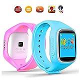 TURNMEON® Touch Screen Kinder Smart Watch für Kinder Smartwatch Telefon mit GPS Tracker Anti verloren SOS Handgelenk Armband für App Control (Grün) - 3