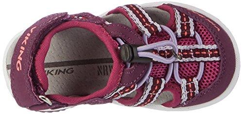 Viking Thrill, Sandales Bout fermé mixte enfant Violett (Plum/Dark Pink)