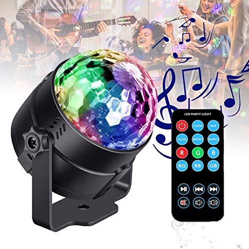 Lichteffekte ITONCS Party Lampe Musikgesteuert Discolicht mit 9 Farbe Partylicht mit Fernbedienung für Weihnachten, Kinder, Partei ()