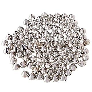 JBY 200Pcs Perlen ca.10MM Silber Acryl Bullet Nägel DIY Nieten Gothic Punk Handgenäht Ziernieten Handwerk Dekoration Kleidungsstücke, Taschen Schuhe Deko