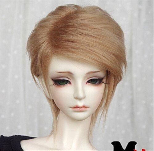 Tita-Doremi Ball-jointed Doll BJD Perücke Puppen Haarteil Für 1/6 6-7 inch Dollfie SD YOSD BB AOD DOD Doll Brown Wig Hair 1/6 6-7 inch 15-17cm (Perücke Nur,Keine Puppe ) - Boy Perücke