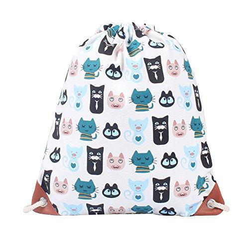 GiveKoiu-Bags Cool zaini per ragazze per scuola vendita a buon mercato moda donna stampa su tela ad alta capacità borsa secchiello zaino borsa a tracolla, Bambino, 2019693, Multicolor02, Misura unica