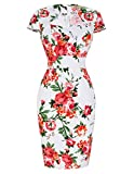 Rockabilly Clothing Cocktail Dress Wedding Vintage Pencil Dresses M YF7597-15