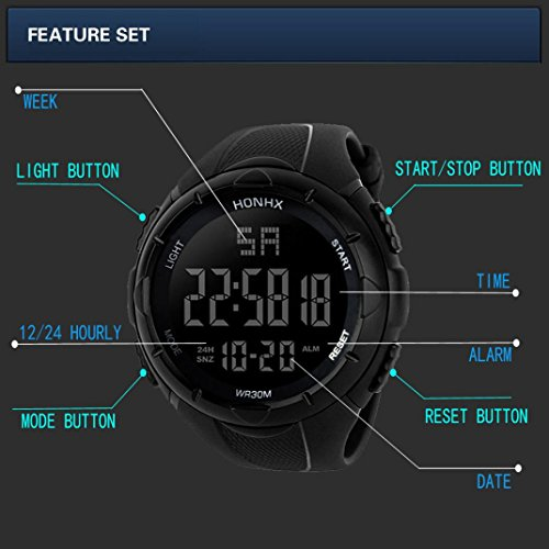 Mens Wrist Watches Sale Clearance Digital Sport WatchMens Digital Sport Watches For OutdoorMilitaryArmySportLEDWaterproofWrist Watch